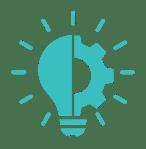 a light bulb and gear